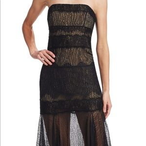 Halston heritage strapless dress new with tags.